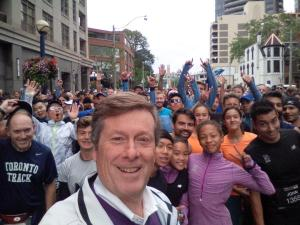 Selfie with the Mayor. You can kind of see the top of my head to the right of him, right behind the girl in orange.
